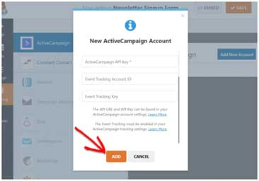 Add ActiveCampaign Account